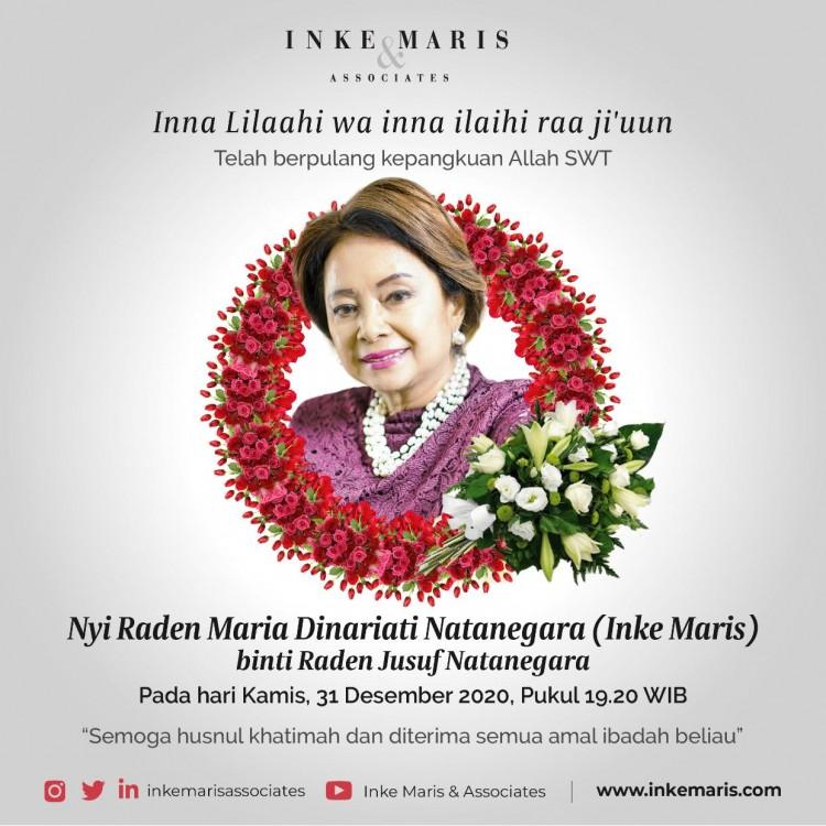 PR Indonesia Guru, Inke Maris Berpulang Hari Ini