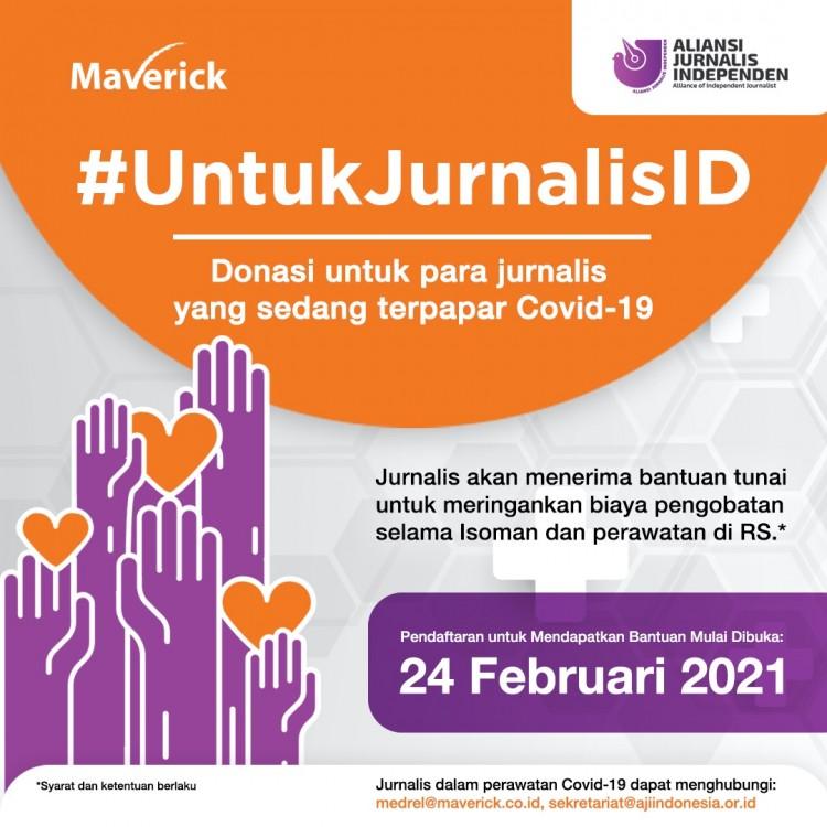 Maverick dan AJI Galang Donasi Bantu Jurnalis Terpapar COVID-19